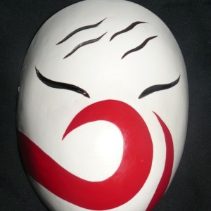 Haku Anbu Cosplay Mask Front Side